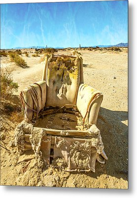 Sand Chair Metal Print by Peter Tellone