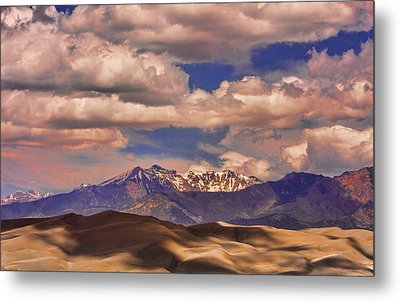 Sand Dunes - Mountains - Snow- Clouds And Shadows Metal Print by James BO  Insogna