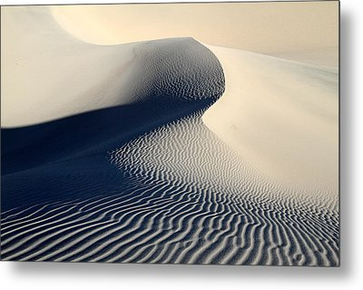 Sand Dunes Patterns In Death Valley Metal Print by Pierre Leclerc Photography