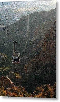 Sandia Peak Cable Car Metal Print by Joe Kozlowski