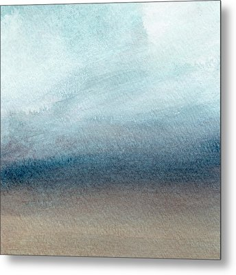 Sandy Shore- Art By Linda Woods Metal Print by Linda Woods