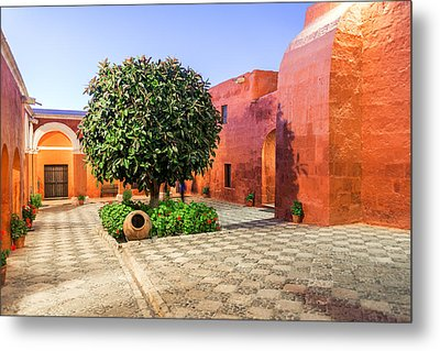 Santa Catalina Monastery At Night Metal Print by Jess Kraft