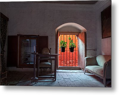 Santa Catalina Monastery Window Metal Print by Jess Kraft