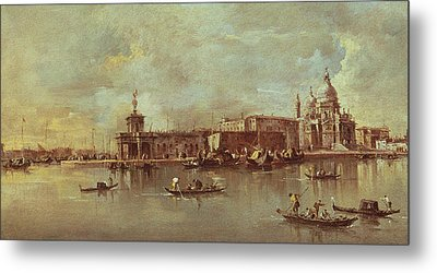 Santa Maria Della Salute Seen From The Mouth Of The Grand Canal Metal Print by Francesco Guardi