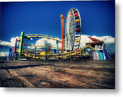 Santa Monica Metal Print by Chris Multop