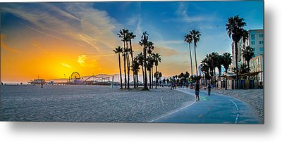 Santa Monica Sunset Metal Print by Az Jackson