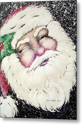 Santa Metal Print by Paula Weber