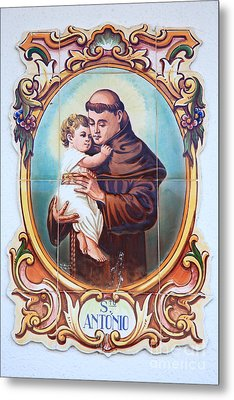 Santo Antonio De Lisboa Metal Print by Gaspar Avila