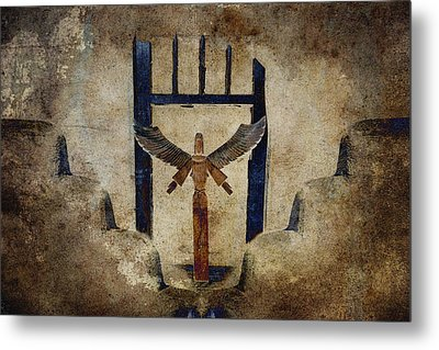 Santo Metal Print by Carol Leigh