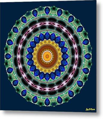 Sapphire Necklace Mandala Metal Print by Joy McKenzie