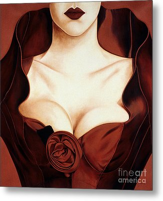 Satin Rose Metal Print by Lawrence Supino