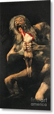 Saturn Devouring One Of His Children  Metal Print by Goya