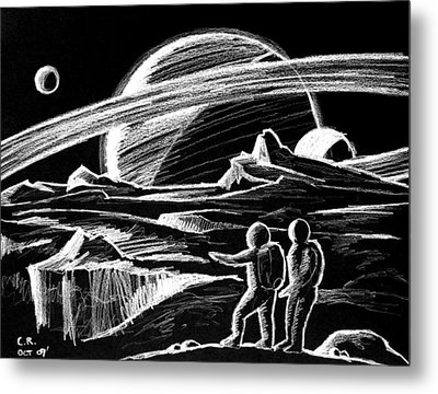 Saturn Visitors Metal Print by Daniel House