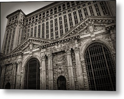 Save The Depot - Michigan Central Station Corktown - Detroit Michigan Metal Print by Gordon Dean II
