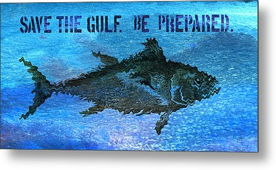 Save The Gulf America 2 Metal Print by Paul Gaj