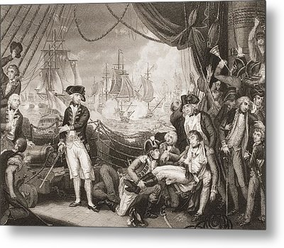 Scene On The Deck Of The Queen Metal Print by Vintage Design Pics