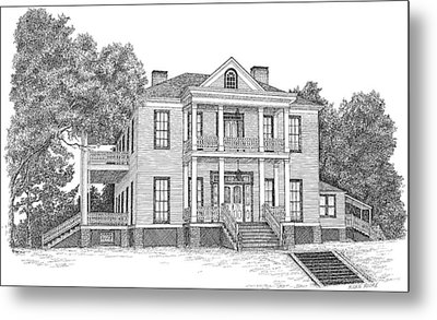 Schluter House In Jefferson Texas Metal Print by Mickie Moore