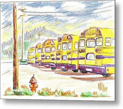 School Bussiness Metal Print by Kip DeVore
