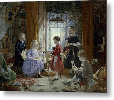 Schooltime Metal Print by William Jabez Muckley