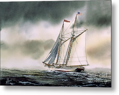 Schooner Heritage Metal Print by James Williamson