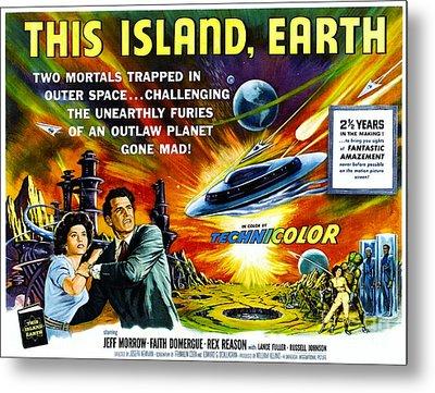 Sci-fi Movie Poster 1954 Metal Print by Padre Art