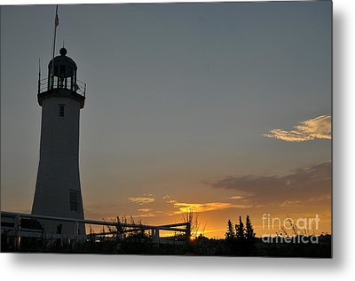 Scituate Light Metal Print by Catherine Reusch  Daley