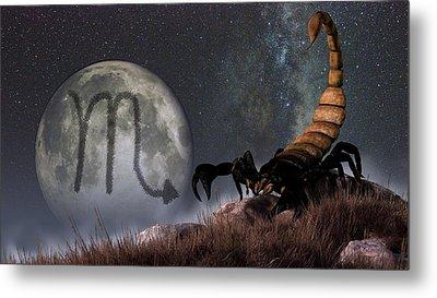Scorpio Zodiac Symbol Metal Print by Daniel Eskridge