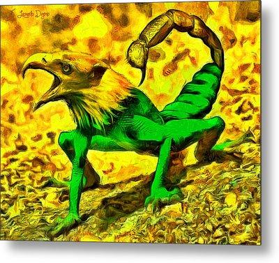 Scorpionfrogbird - Da Metal Print by Leonardo Digenio