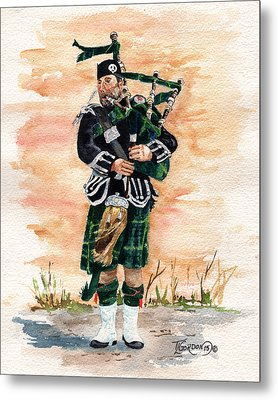 Scotland The Brave Metal Print by Timithy L Gordon