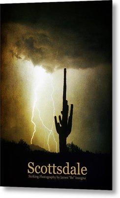 Scottsdale Arizona Fine Art Lightning Photography Poster Metal Print by James BO  Insogna