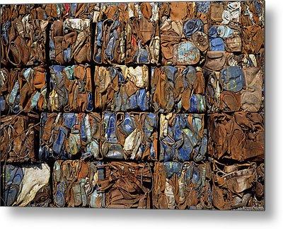 Scrap Metal Bales Metal Print by Dirk Wiersma