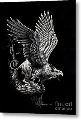 Screaming Griffon Metal Print by Stanley Morrison