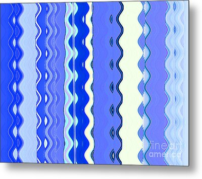 Sea Blue Wave Tapestry Metal Print by Ann Johndro-Collins