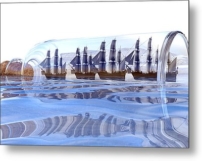 Bottled And Ready To Ship Metal Print by Betsy Knapp
