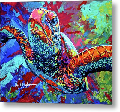 Sea Turtle Metal Print by Maria Arango