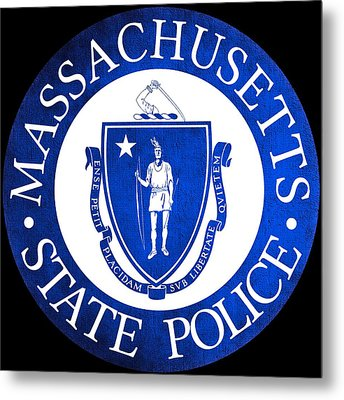 Seal Of The Massachusetts State Police Metal Print by Tom Lemmons