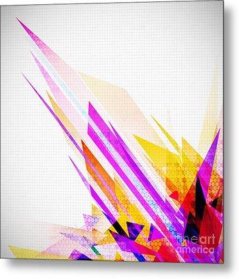 Seamless Honeycomb Pattern Metal Print by Setsiri Silapasuwanchai