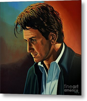 Sean Penn Metal Print by Paul Meijering