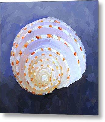 Seashell Iv Metal Print by Jai Johnson