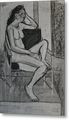 Seated Female Metal Print by Joanne Claxton