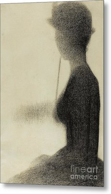 Seated Woman With A Parasol  Metal Print by Georges Pierre Seurat