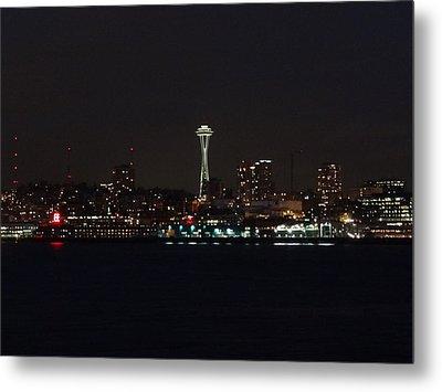 Seattle City Lights Metal Print by Kyle Wood