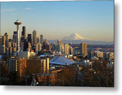 Seattle Cityscape Metal Print by Greg Vaughn - Printscapes