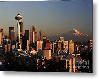 Seattle Equinox Metal Print by Winston Rockwell