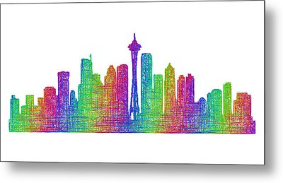 Seattle Skyline Metal Print by David Zydd