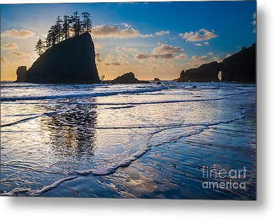 Second Beach Waves Metal Print by Inge Johnsson