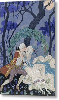 Secret Kiss Metal Print by Georges Barbier