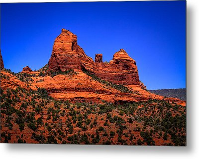 Sedona Rock Formations Metal Print by David Patterson