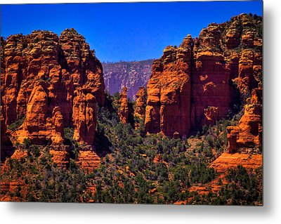 Sedona Rock Formations II Metal Print by David Patterson