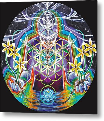 Seeds Of Life Within Metal Print by Morgan  Mandala Manley